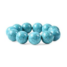 Round Beads Blue Howlite Beaded Stretch Bracelet Jewelry for Women Mothers Day Gifts Size 6.5 | Walmart (US)