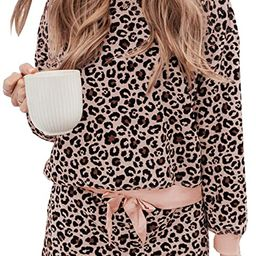 Women's Tie Dye Printed Pajamas Set Long Sleeve Tops with Shorts Lounge Set Casual Two-Piece Sl...   Amazon (US)