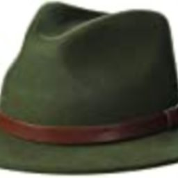 Brixton Men's Messer Medium Brim Felt Fedora Hat, Moss, Large | Amazon (US)