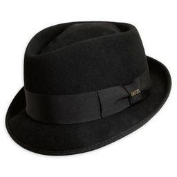 Scala® Men's Medium Wool Felt Diamond Crown Fedora Hat in Black | Bed Bath & Beyond