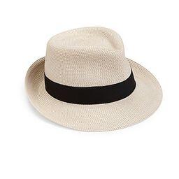 Eric Javits Women's Classic Fedora Hat - Cream Black | Saks Fifth Avenue
