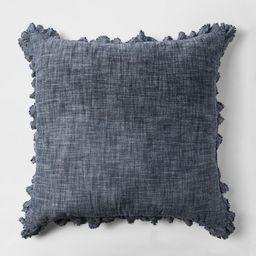 Chambray Euro Pillow Blue - Threshold™ | Target