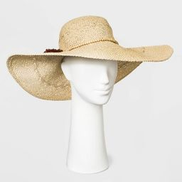 Women's Paper Straw Floppy Hat - A New Day™ Natural | Target