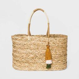 Straw Large Tote Handbag - A New Day™ Natural | Target