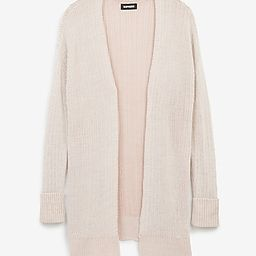 Easy Knit Ribbed Cardigan   Express