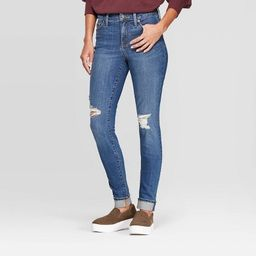 Women's High-Rise Distressed Skinny Ankle Jeans - Universal Thread™ | Target