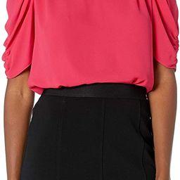 Amazon Brand - Lark & Ro Women's Georgette Half Sleeve Ruffle Neck Woven Blouse   Amazon (US)
