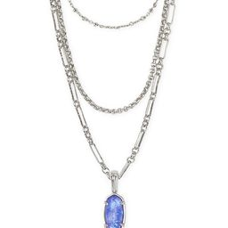 Elisa Silver Triple Strand Necklace in Iridescent Lilac Illusion | Kendra Scott