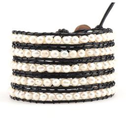 Freshwater Pearls on Black   Victoria Emerson