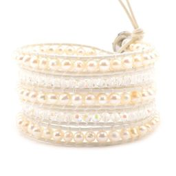 Freshwater Pearls and Crystals on White   Victoria Emerson