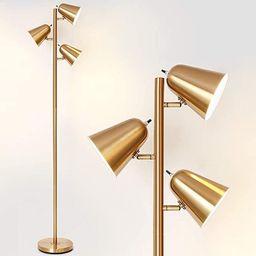 HAITRAL Adjustable Floor Lamp - Modern Pole Lamp 3 Light Tree, Standing Tall Lamp for Living Room... | Amazon (US)