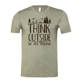 Think Outside... No Box Required. Soft lightweight T-shirt. (3001CVC) | Etsy (US)