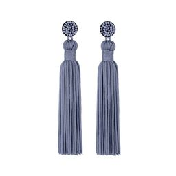 Ella & Elly Women's Earrings Blue - Goldenrod Beaded Tassel Drop Earrings | Zulily