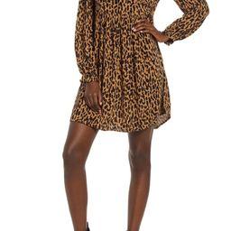 Print Long Sleeve Dress   Nordstrom