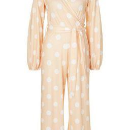 Polka Dot Spot Wrap Culotte Jumpsuit | Boohoo.com (US & CA)