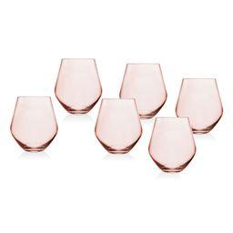 Meridian Blush Set of 6 Stemless Glasses | Nordstrom