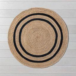 5' Round Jute Stripe Rug - Hearth & Hand™ with Magnolia   Target