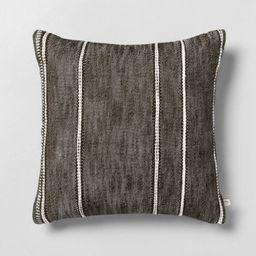 "18"" x 18"" Stripe Pattern Decor Pillow Dark Green - Hearth & Hand™ with Magnolia | Target"