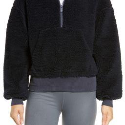 Streetside Half Zip Faux Fur Hoodie | Nordstrom