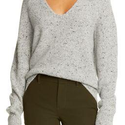 V-Neck Nep Wool Blend Sweater   Nordstrom