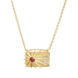 Sunburst Rectangular Medallion Necklace | Nordstrom
