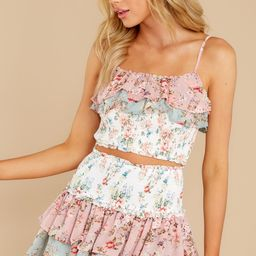Best Of All Pink Multi Floral Print Two Piece Set | Red Dress