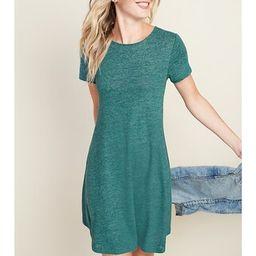 Linen-Blend Jersey Swing Dress for Women   Old Navy (US)