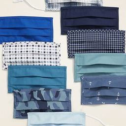 Variety 10-Pack of Triple-Layer Cloth Face Masks for Adults (with Ear Adjusters) | Old Navy (US)