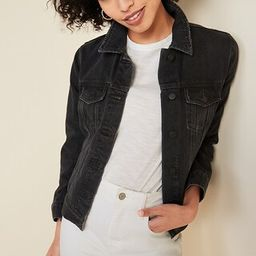 Distressed Black Jean Jacket for Women | Old Navy (US)