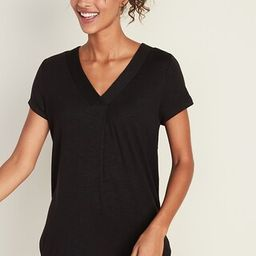 Loose Luxe V-Neck Tunic Tee for Women   Old Navy (US)