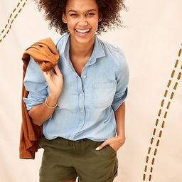 Relaxed Chambray Classic Shirt for Women | Old Navy (US)