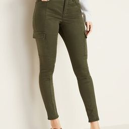 High-Waisted Sateen Rockstar Super Skinny Cargo Pants for Women   Old Navy (US)