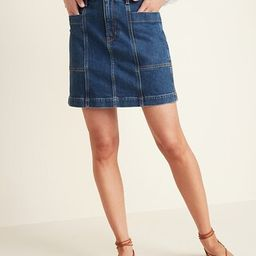 High-Waisted Utility Pocket Jean Skirt for Women   Old Navy (US)