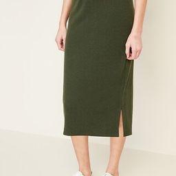 Rib-Knit Midi Skirt for Women   Old Navy (US)