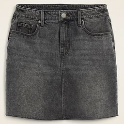 High-Waisted Raw-Hem Faded-Black Jean Skirt for Women   Old Navy (US)