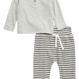 Long Sleeve Henley Shirt & Pants Set | Nordstrom