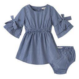 Stripe Bell Sleeve Dress | Nordstrom