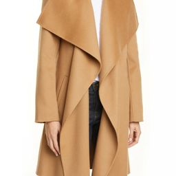 Cascade Collar Double Face Wool & Cashmere Coat   Nordstrom