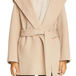 Hooded Wool Blend Coat   Nordstrom