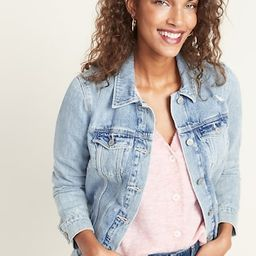 Distressed Jean Jacket For Women | Old Navy (CA)