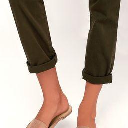 Joelle Camel Suede Loafer Slides | Lulus (US)