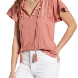 Embroidered Eyelet Knit Top   Nordstrom