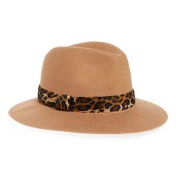 Animal Print Trim Wool Felt Panama Hat   Nordstrom
