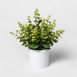 "12"" x 10"" Artificial Eucalyptus Plant Arrangement in Pot Green/White - Project 62™   Target"