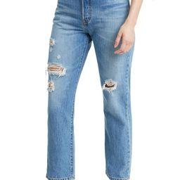 501® Ripped High Waist Crop Straight Leg Jeans | Nordstrom