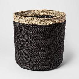 "14.9"" x 14.5"" Decorative Raffia Basket Black/Natural - Project 62™ | Target"