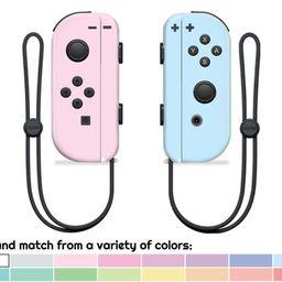Mix & Match - Cute Solid Pastel Nintendo Switch Joy-Con Skin | Etsy (US)
