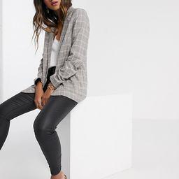 Vila tailored blazer in gray check | ASOS (Global)