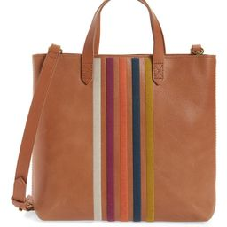 The Transport Stripe Embroidered Zip Top Crossbody Tote | Nordstrom