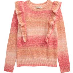 Space Dye Ruffle Cotton Blend Sweater | Nordstrom